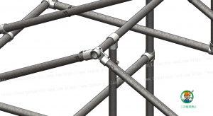 金具・単管パイプ組立て状態 屋根 B-2TH使用部