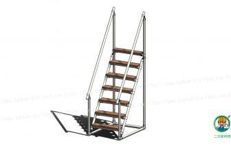 LABO金具と単管パイプで作る階段