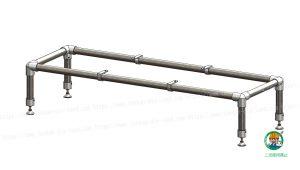 金具と単管パイプの組立状態