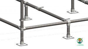 金具・単管パイプ組立て状態 B-3K使用部