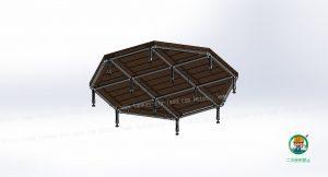 八角形ベンチ、下面の状態
