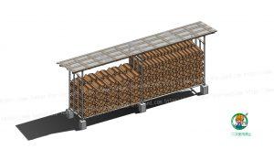 薪乾燥貯蔵棚