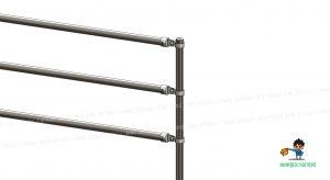 柵、端末部の柱