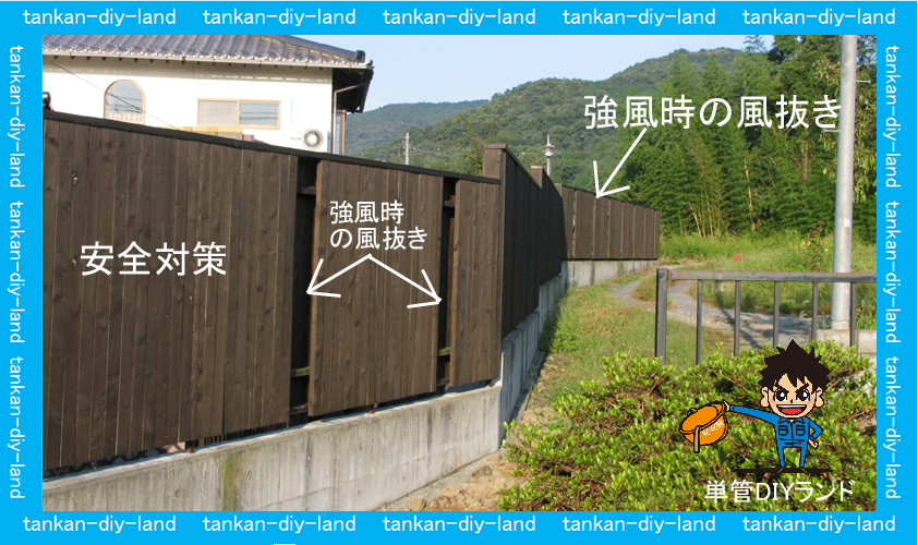 単管パイプ 築15年びくともしない板塀 LABO(ラボ)金具 tankan.tv/ | 単管パイプのDIY向け、技術者向けの情報なら単管DIYランド